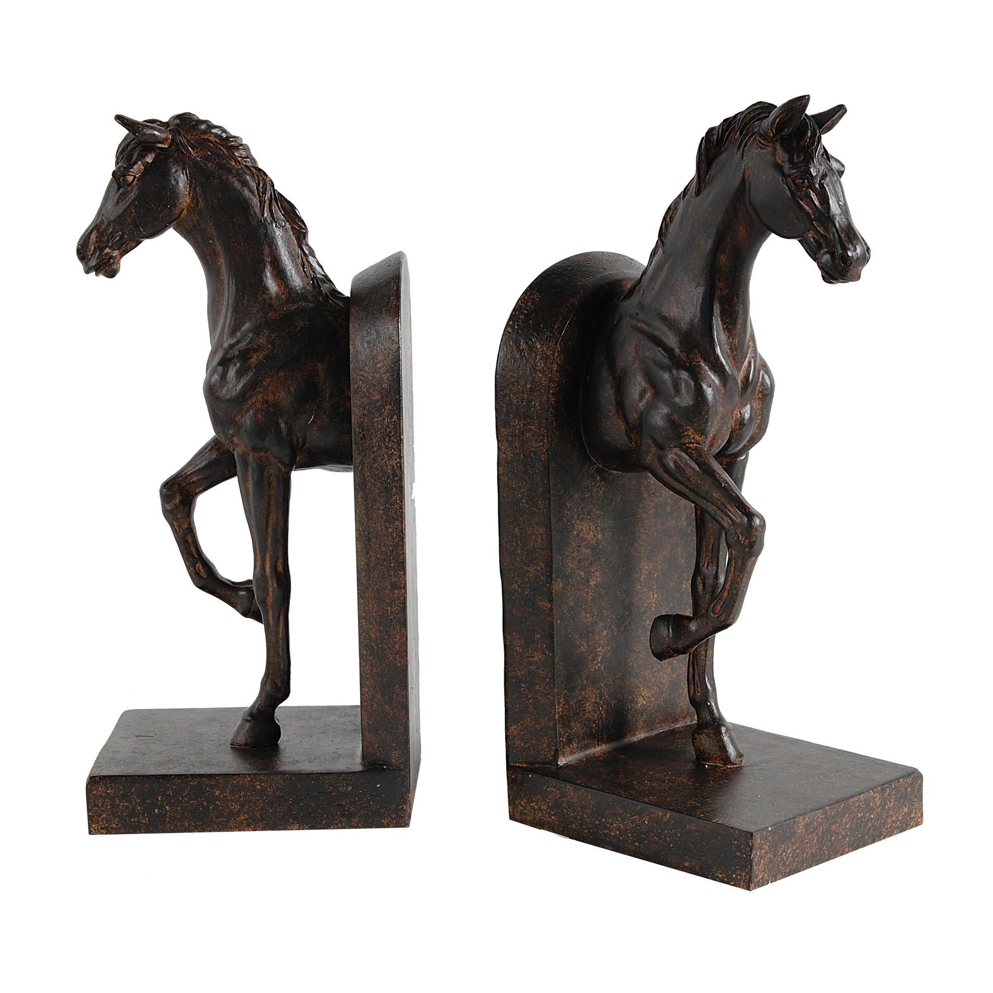Amrita 2 Piece Horse Bookend Set