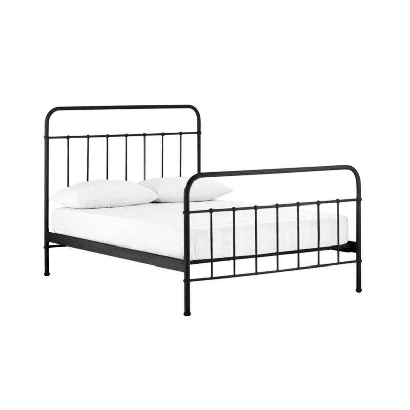Jessica Metal Queen Size Bed - Black