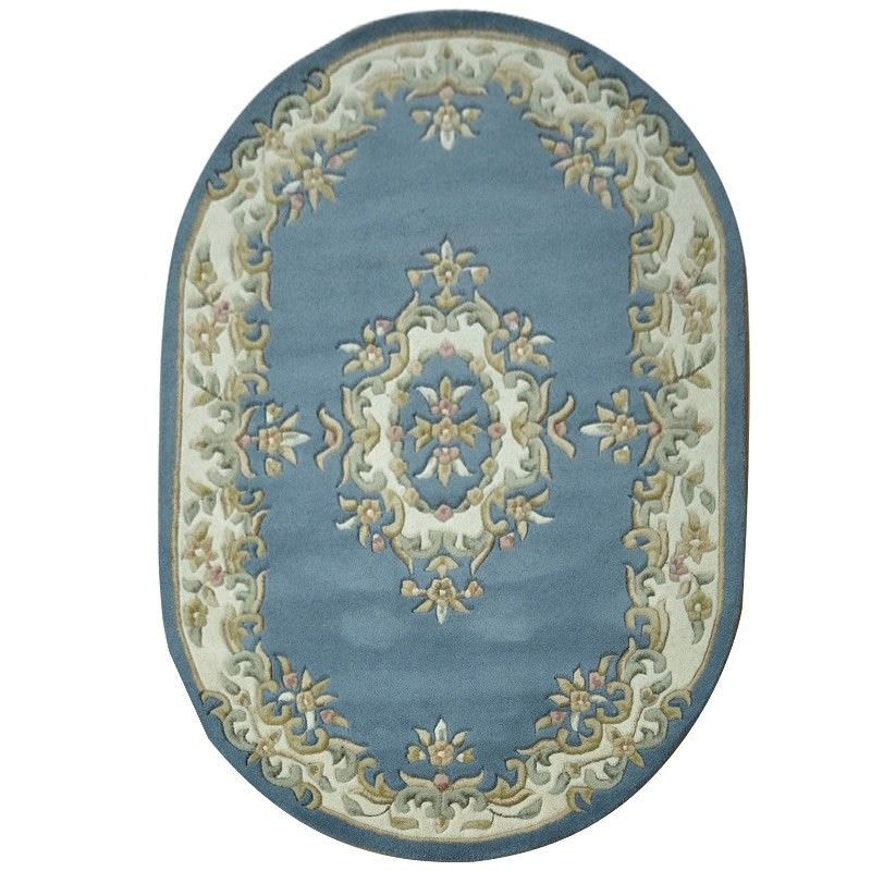 New Persian Hand Tufted Wool Oval Area Rug: Jewel Hand Tufted 120x170cm Oval Wool Rug