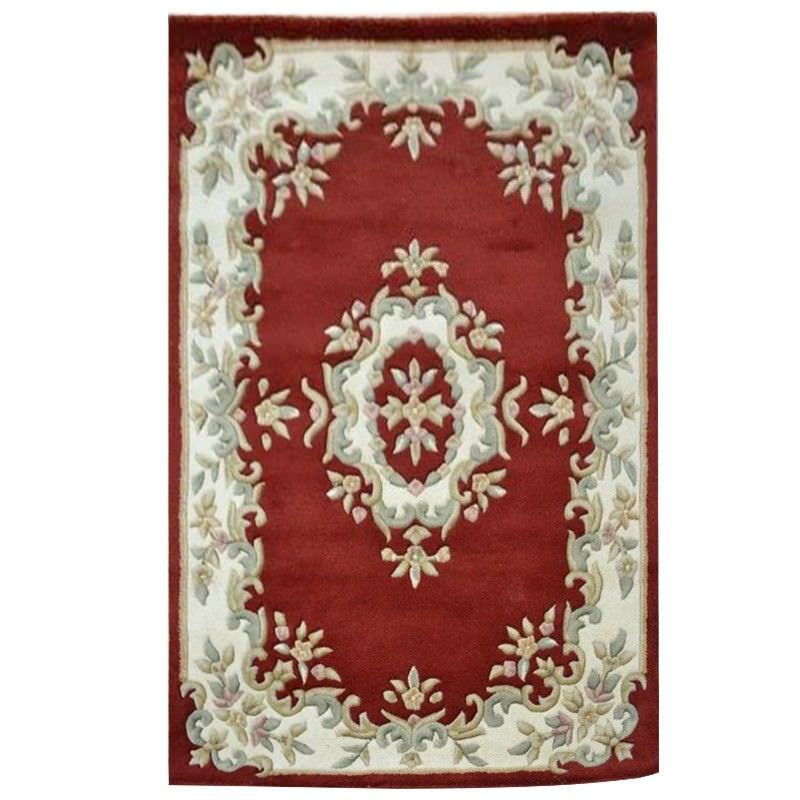 Jewel Hand Tufted 150x220cm Wool Rug - Red