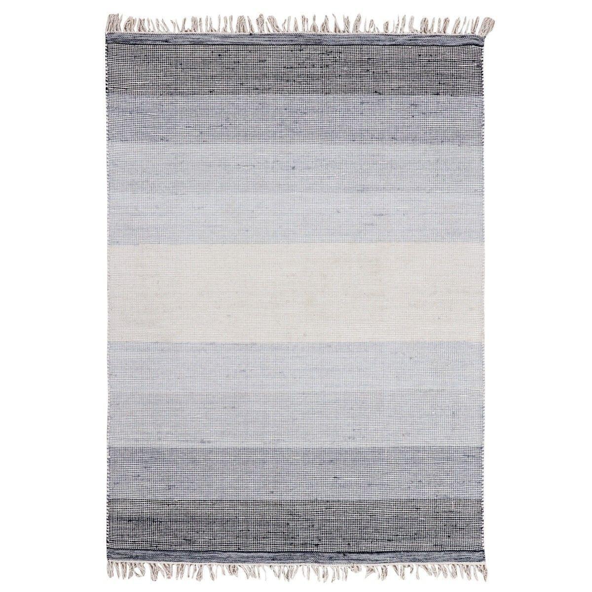 Ombre Handwoven Wool Rug, 280x190cm, Grey