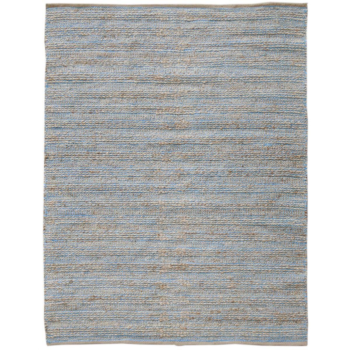 Natural Charm Handwoven Jute Rug , 190x280cm, Blue