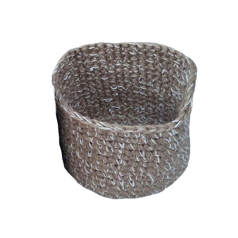Roche Jute & Fabric Basket, Small