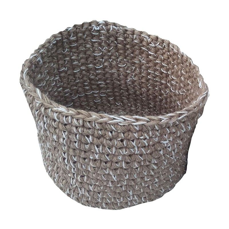 Roche Jute & Fabric Basket, Large