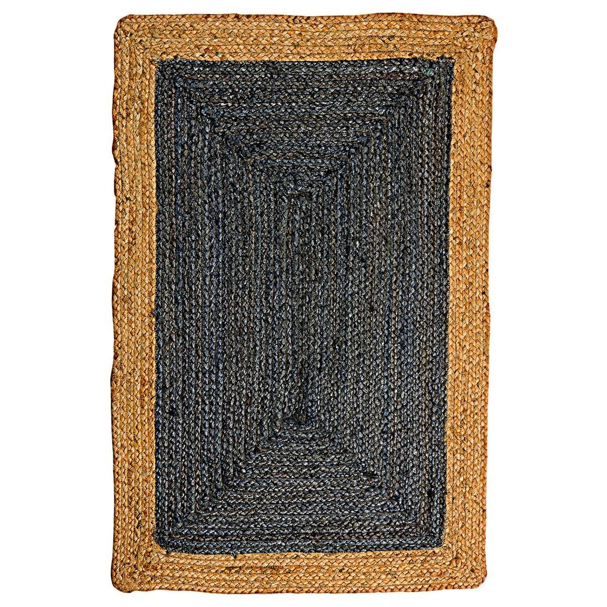 Phoenix Handwoven Jute Rug, 120x180cm, Deep Grey