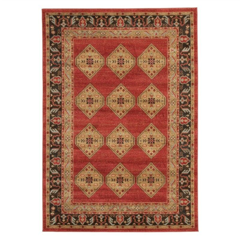 Jewel Shiraz Turkish Made Oriental Rug, 230x160cm, Red