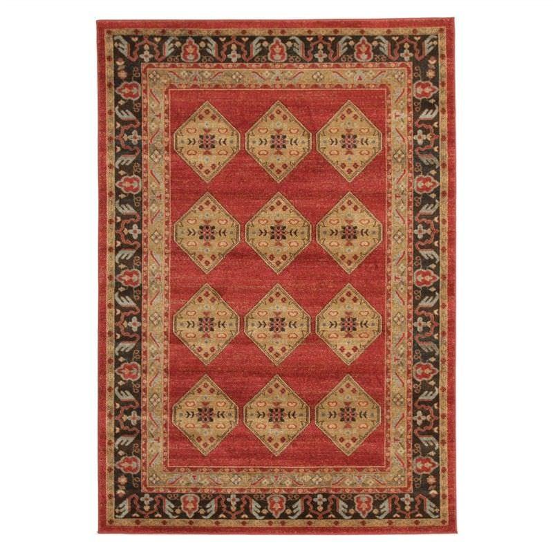 Jewel Shiraz Turkish Made Oriental Rug, 330x240cm, Red