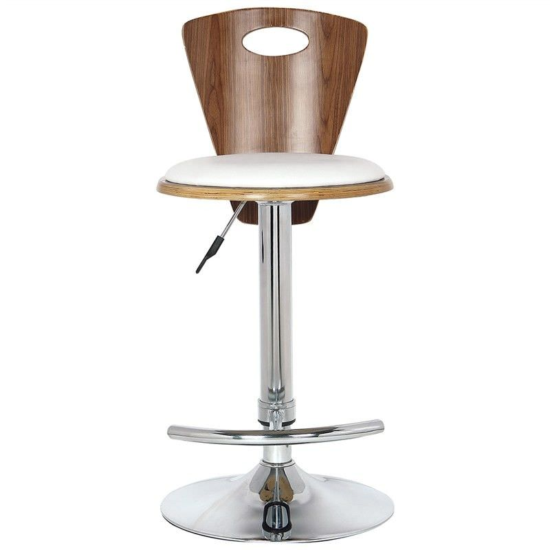 Cone Gas Lift Swivel Bar Chair with PU Seat