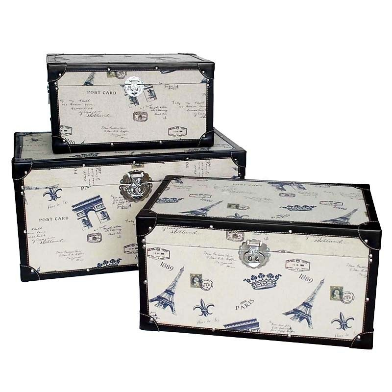Trunk Boxes French Scenic Set-3