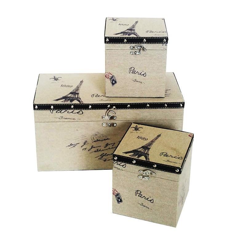 Set of 3 Eiffel Tower Squre Treasure Box