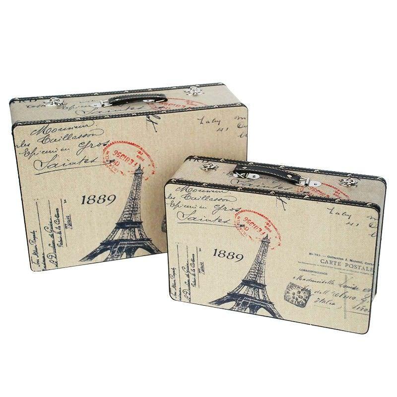 Set of 2 Eiffel Tower Suitcase