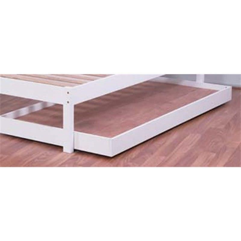 Budget Wooden Trundle Bed, Single, Arctic White