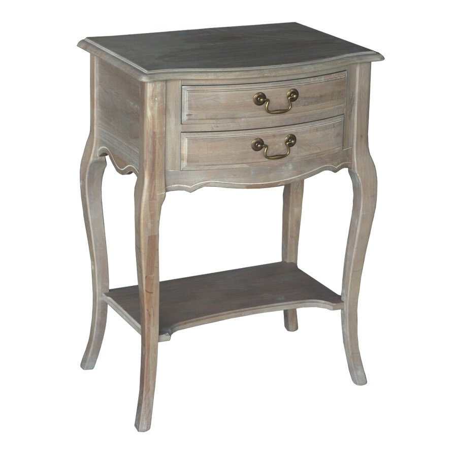 Louis XV French Provincial Beech Timber Night Stand