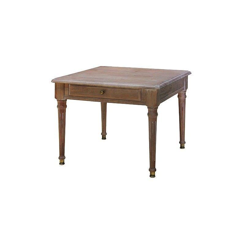 White Wash Louis XVI  Lamp Table
