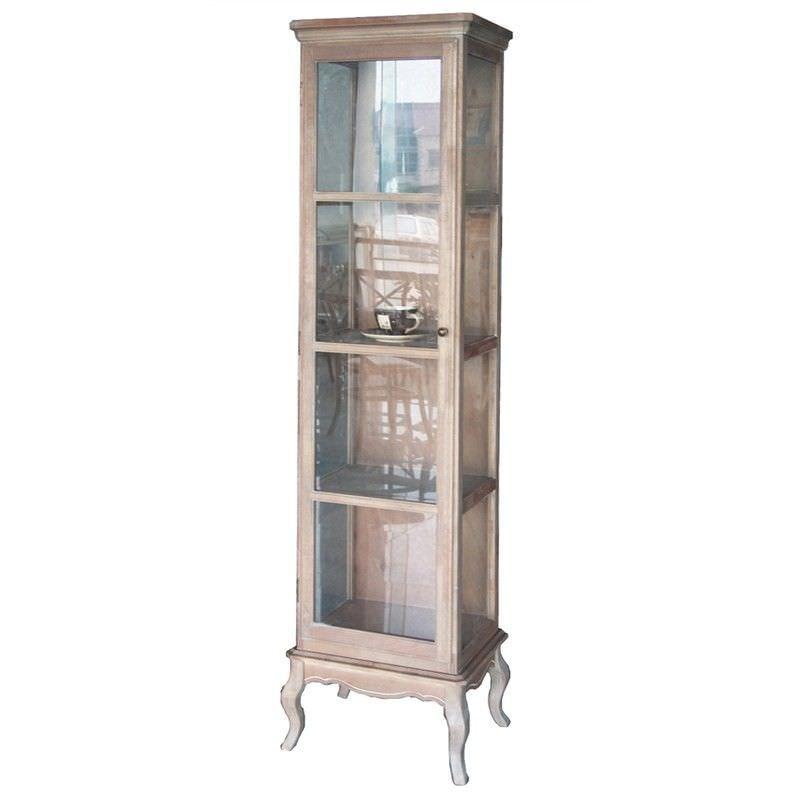 Cherilyn Solid Beech Wood Timber Single Door Display Cabinet