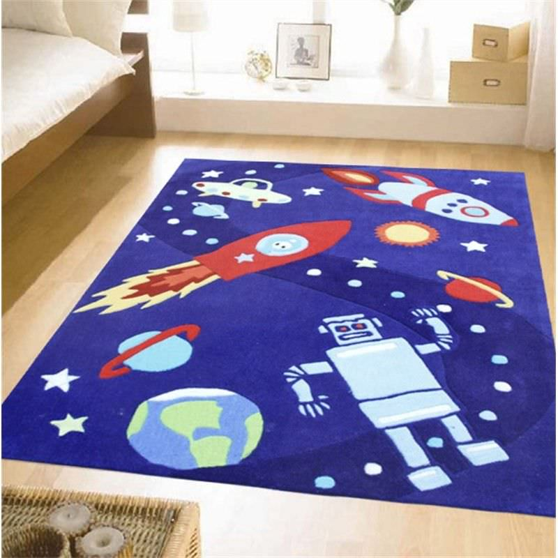 Space ships and Robots Kids Rug - 165x115cm