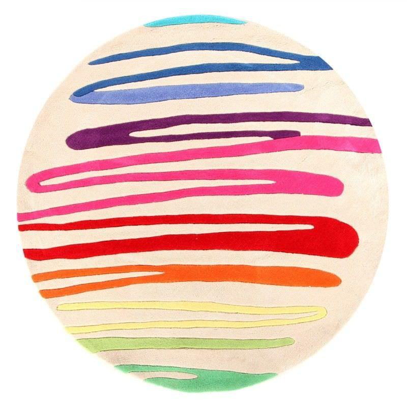 Paint Strokes Kids Rug in Multi - 150x150cm