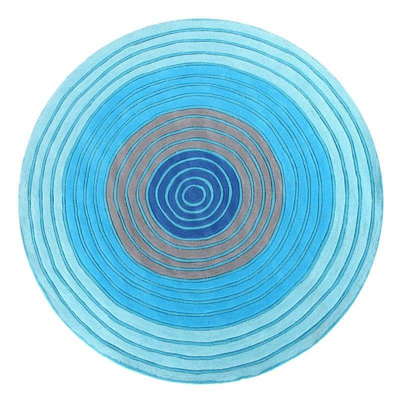 Ripple Kids Rug in Blue - 150x150cm