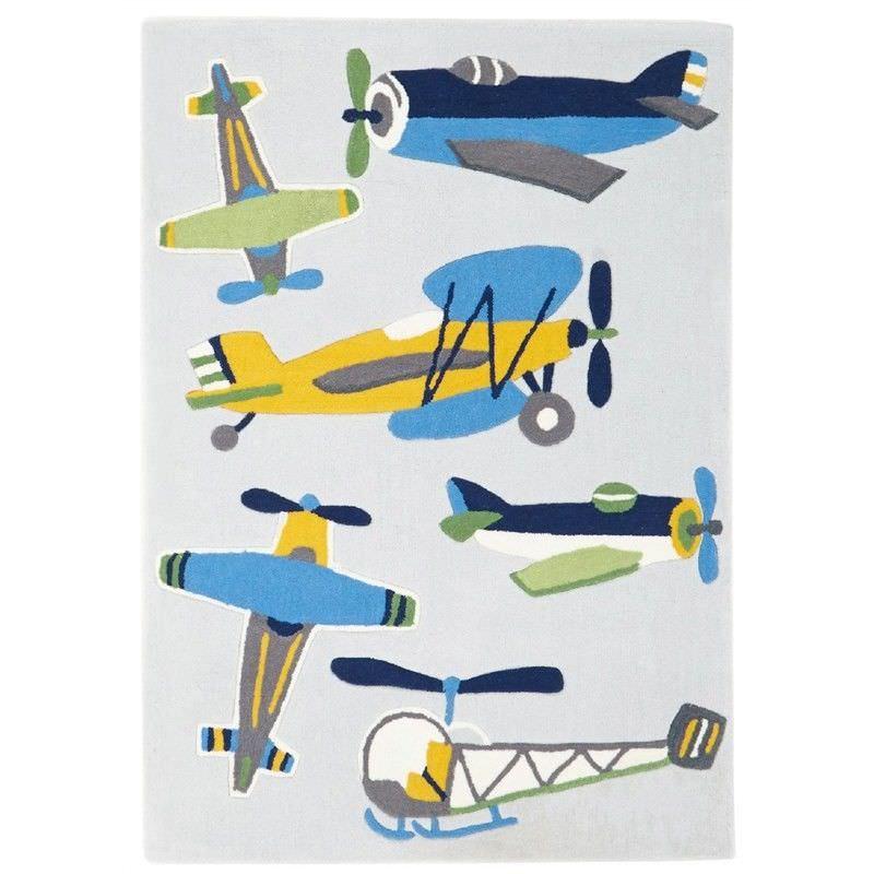 Little Aviator Plane Kid Rug - 165x115cm