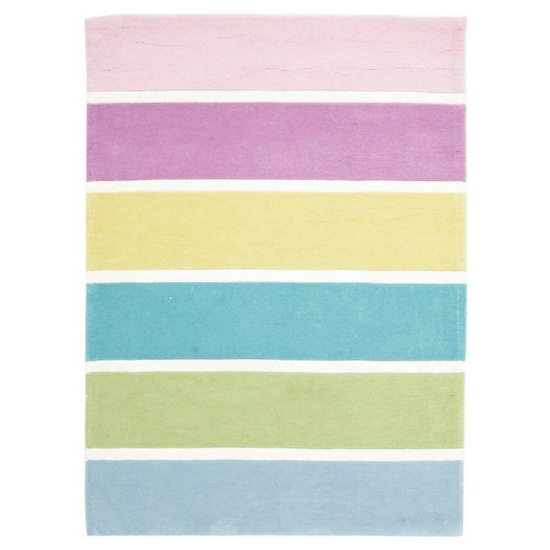 Pastel Colour Stripes Kid Rug -  220x150cm
