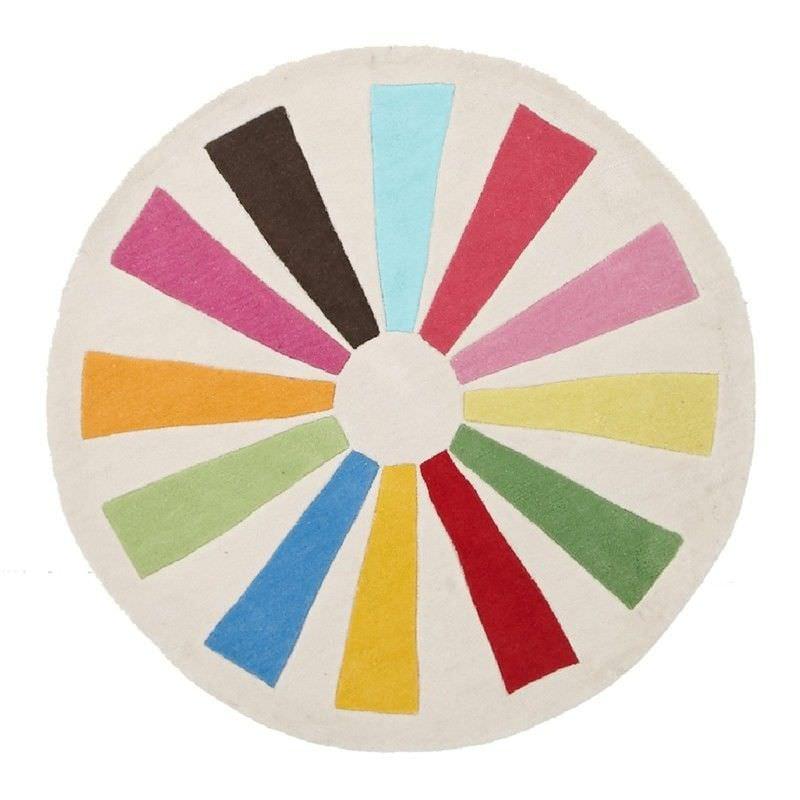 Colour Wheel Round Kid Rug - 150x150cm