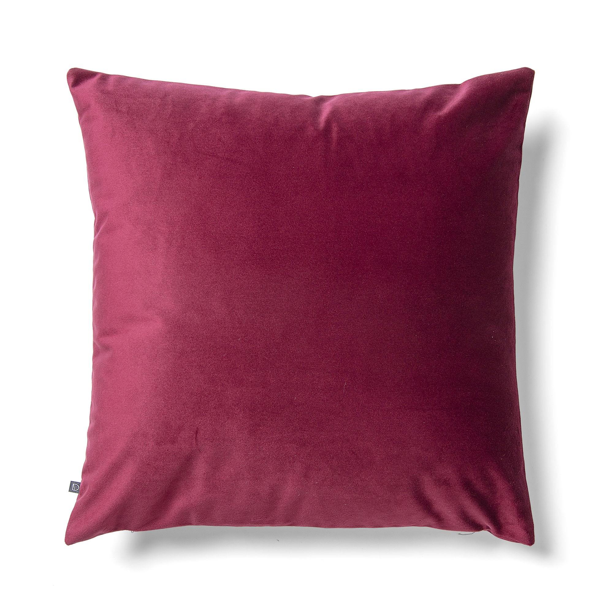 Daraya Velvet Fabric Scatter Cushion, Burgundy