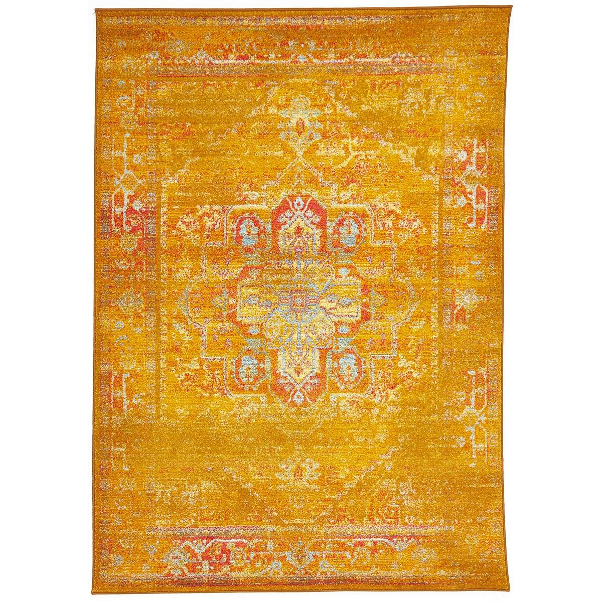 Kal Classic Egyptian Made Overdyed Oriental Rug, 330x240cm, Gold