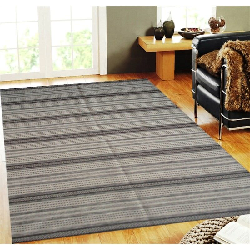 Woollen Kashi Durries in Natural - 120x180cm