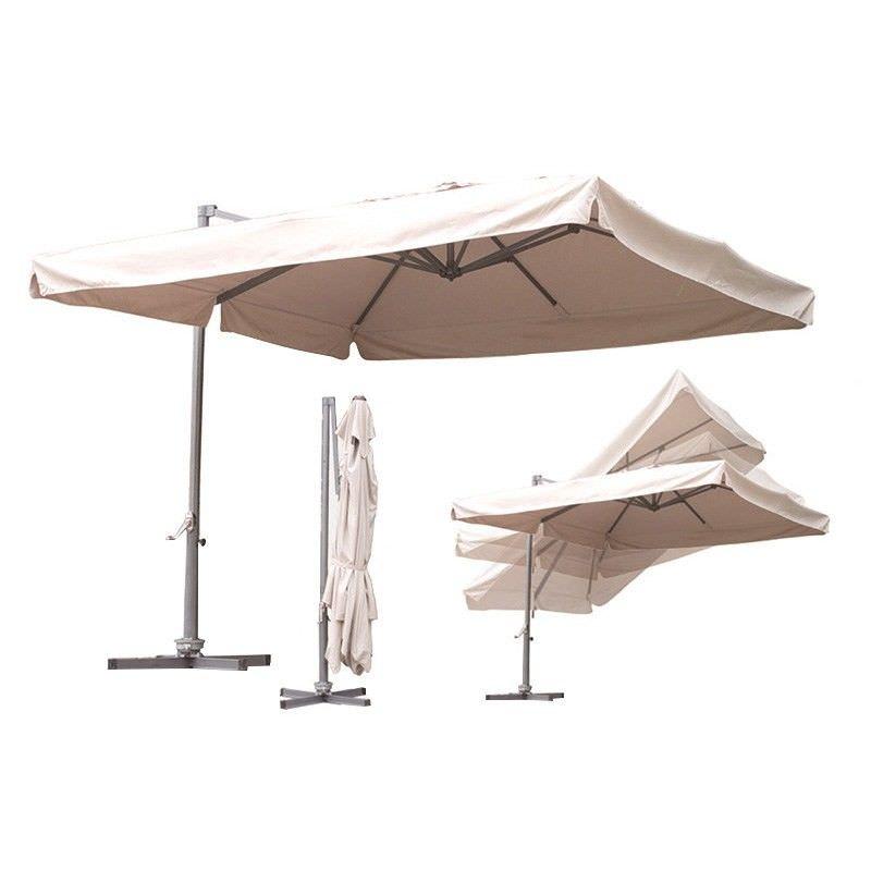 Marid Aluminum Cantilever Umbrella in Beige