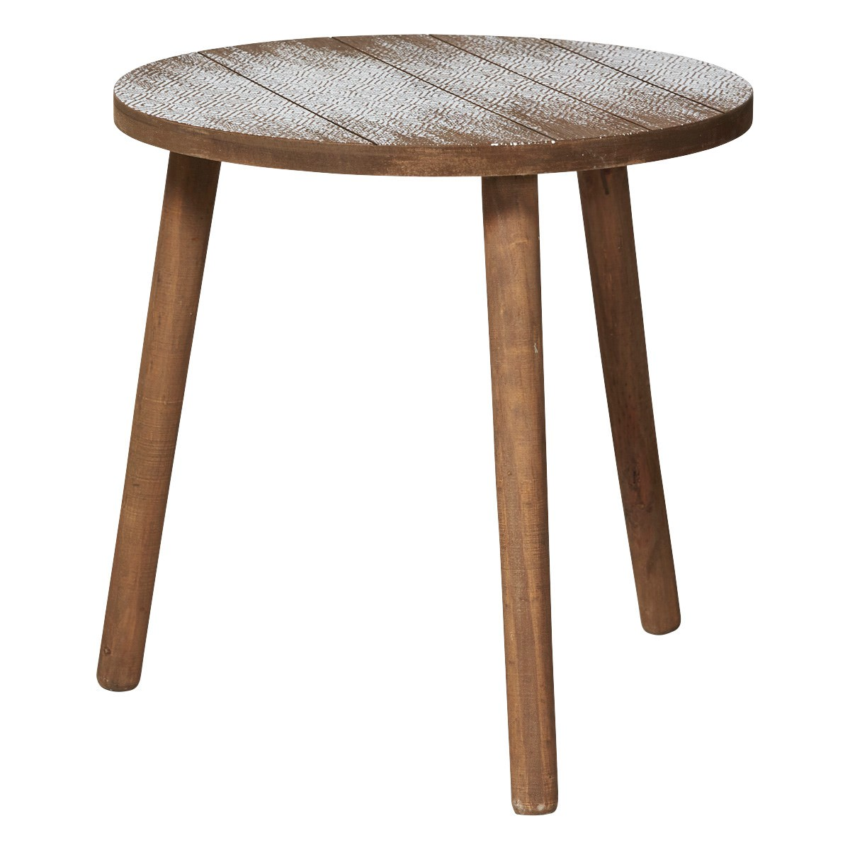 Phoenix Wooden Round Side Table, Large