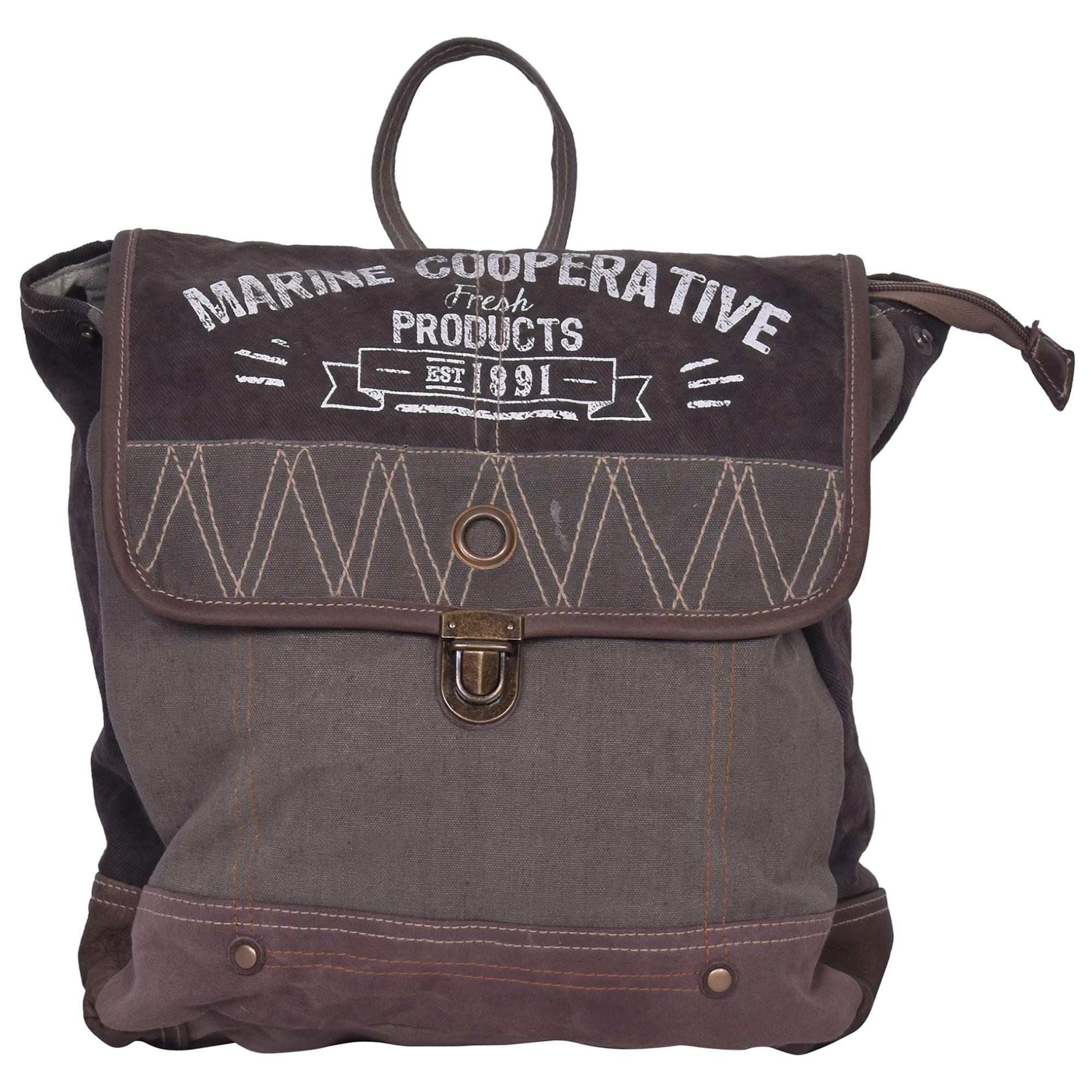 M.C Cotton Canvas Backpack Bag