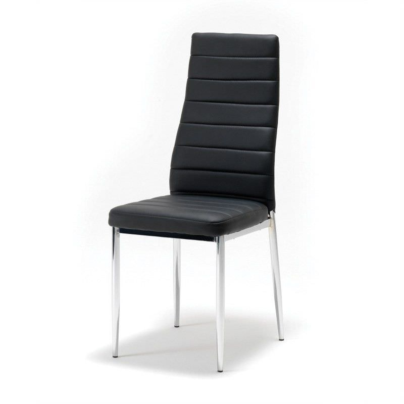 Ken PU Leather Chair - Black