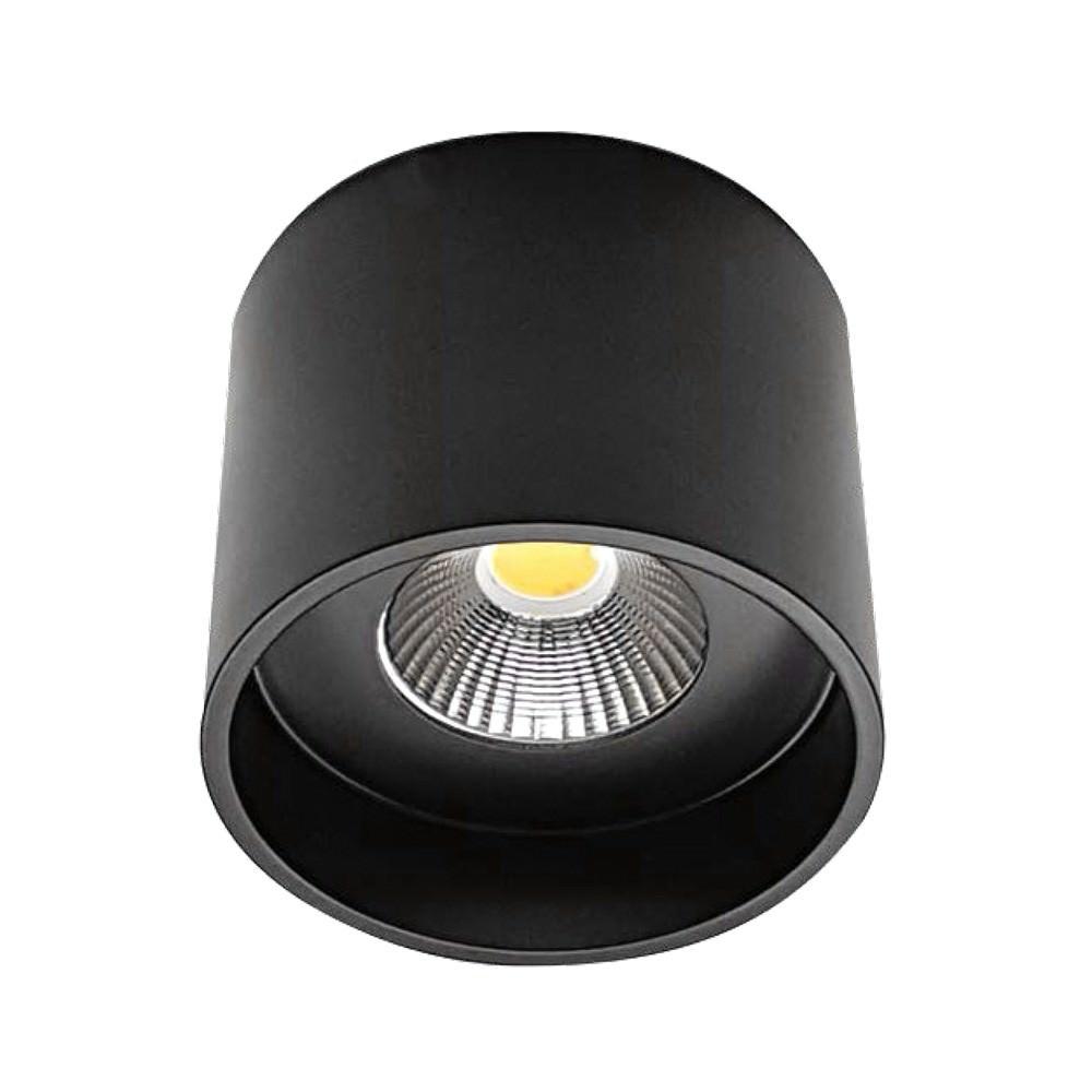 Keon Surface Mount LED Downlight, 3000K, Large, Black