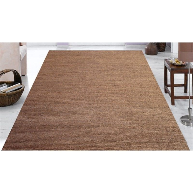 Handwoven Jute Rug 1005 in Brown - 160x230cm