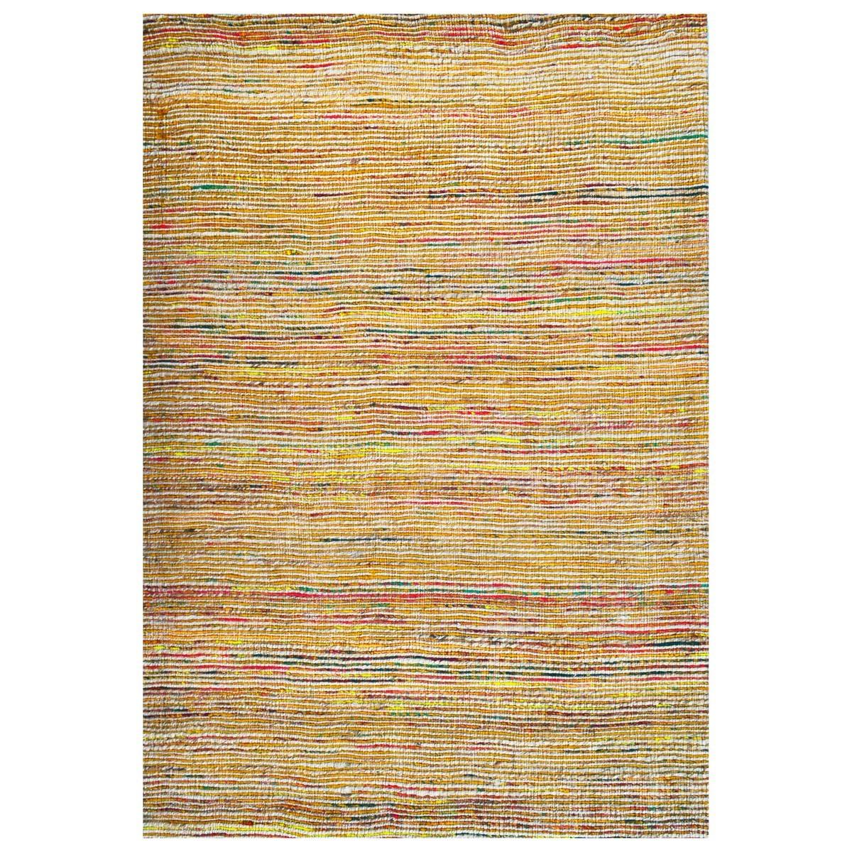 Kerla Horizon Handwoven Silk & Jute Rug, 230x160cm, Natural / Gold