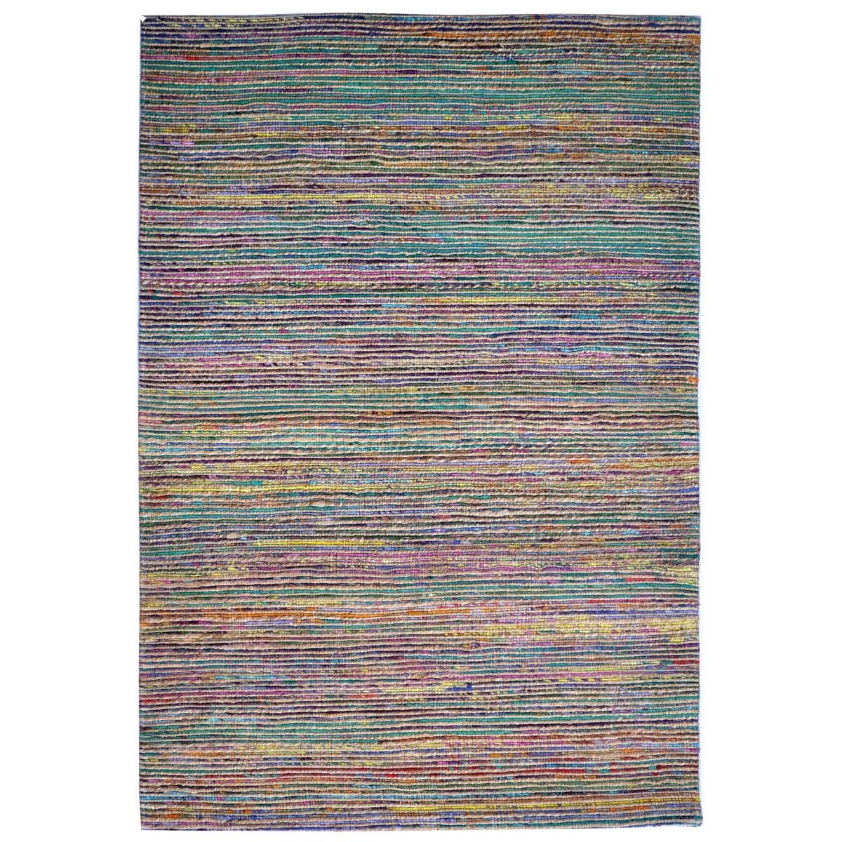 Kerla Horizon Handwoven Silk & Jute Rug, 230x160cm, Natural / Multi