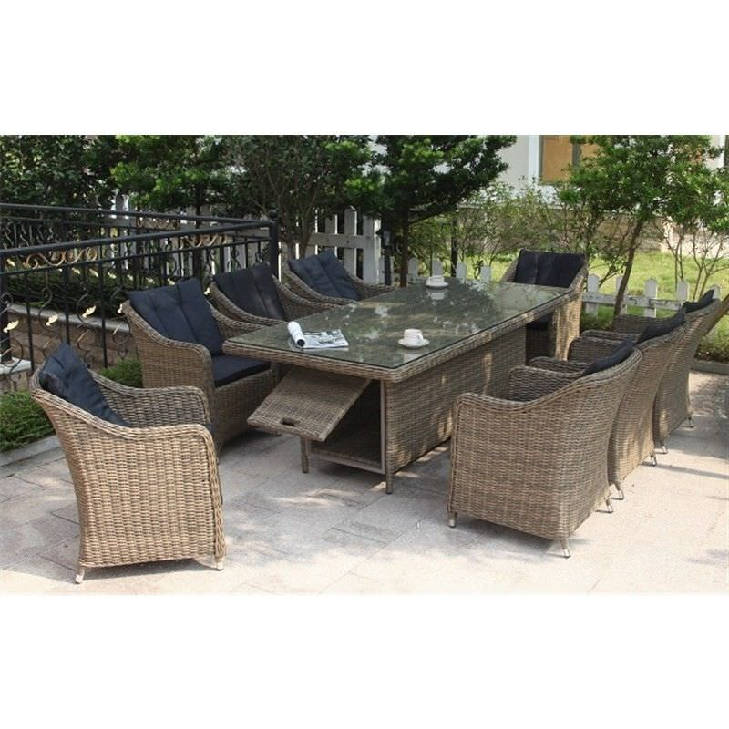 Liverpool 9-Piece Dining Set with 220cm Table