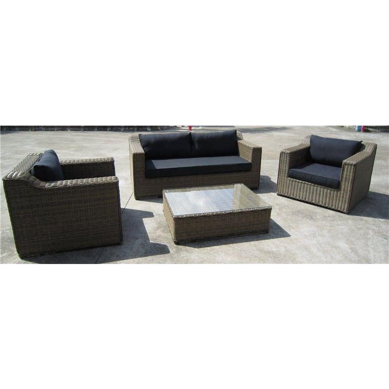 Dubai 4-Piece Wicker Lounge Set