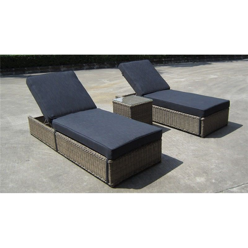 Dubai 3-Piece Sunbed Lounge Set