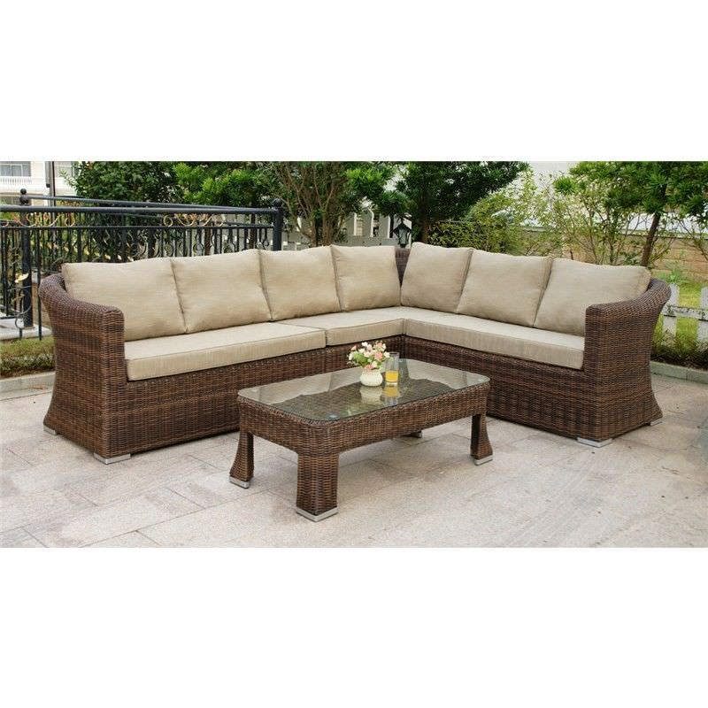 Novara 5 Piece Wicker Sofa Set
