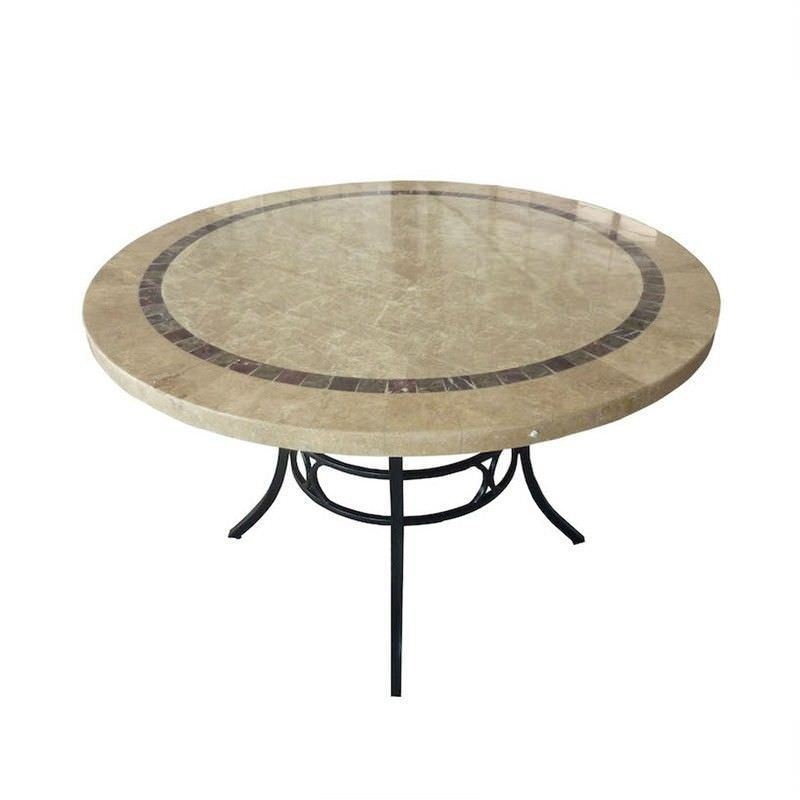 Beck Natural Stone Outdoor Round Dinig Table, 122cm
