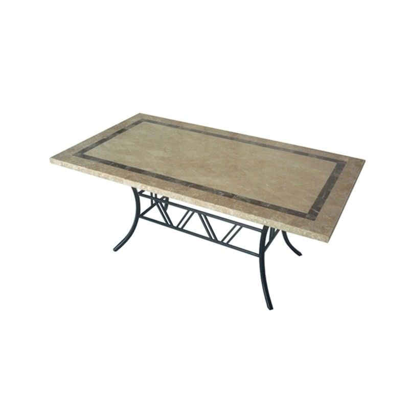Beck Natural Stone Outdoor Dining Table, 180cm