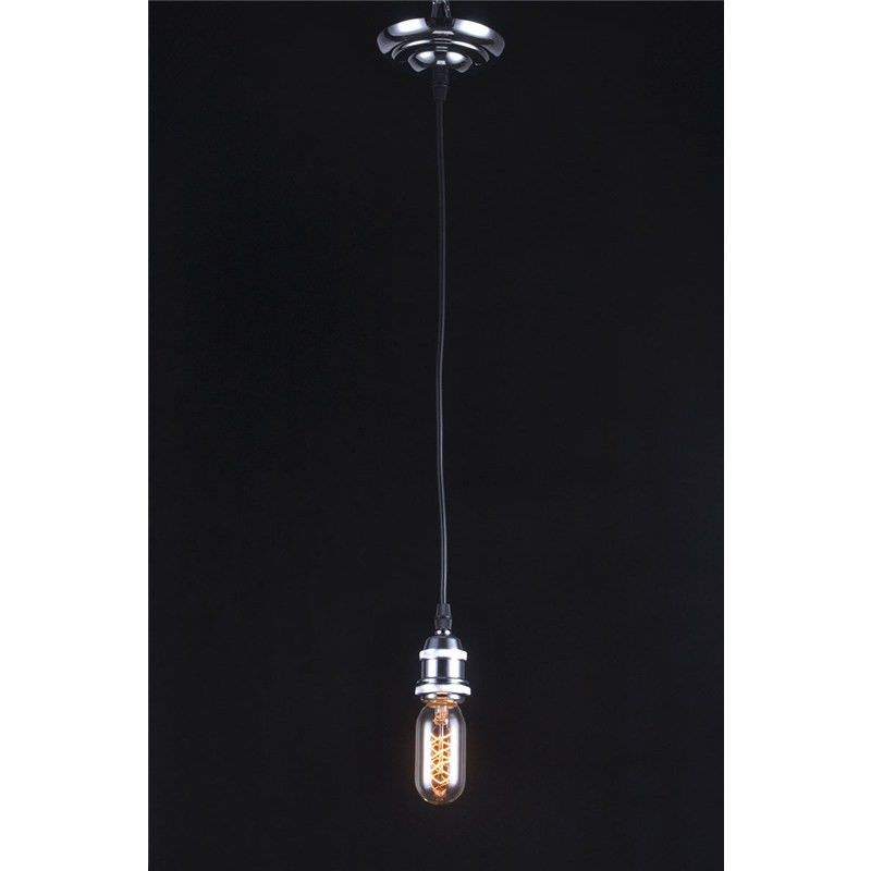 Edison Style Capsule Light Bulb with Chrome  Fitting