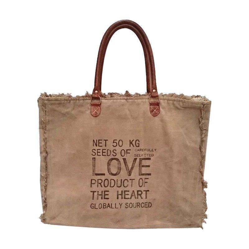 Febe Cotton Canvas Beach Bag