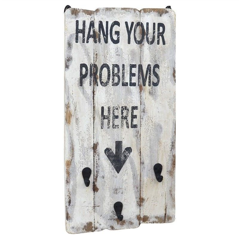 """""""Problems"""" Timber Wall Panel with Hooks"""