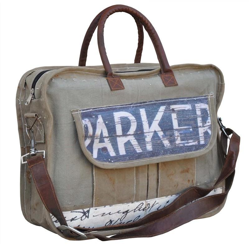 Parker Cotton Canvas Messenger Bag