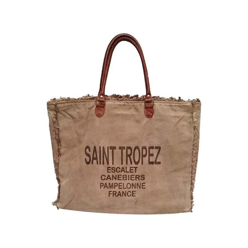 St Tropez Cotton Canvas Beach Bag