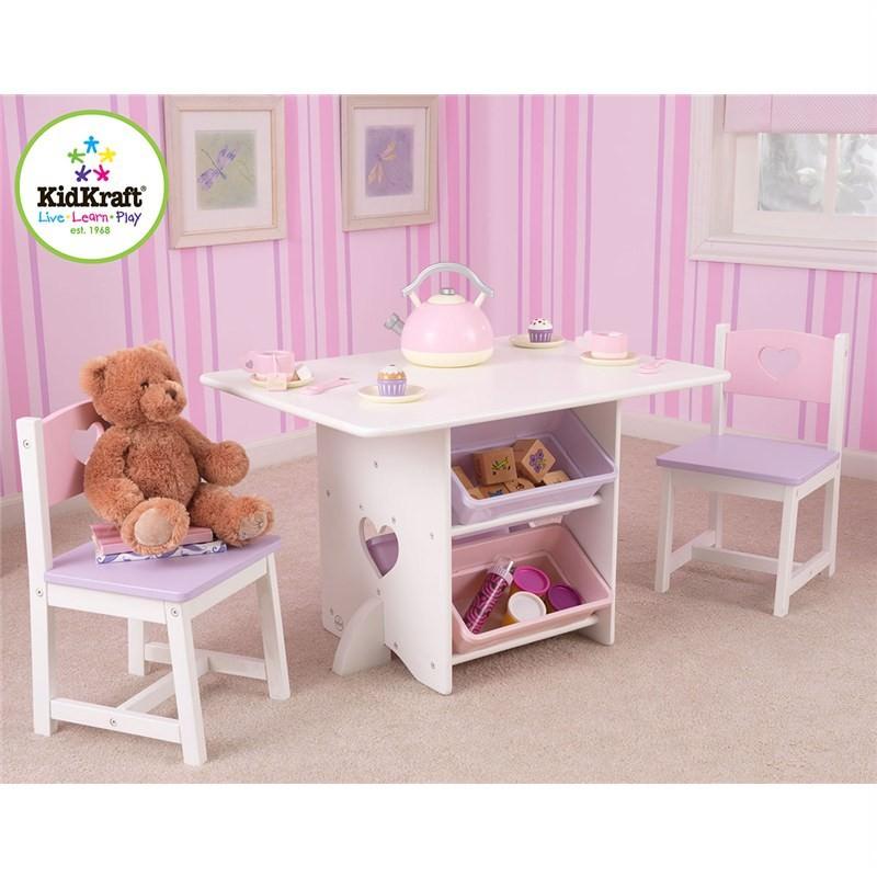 KidKraft Heart Wooden Table & Chair Set