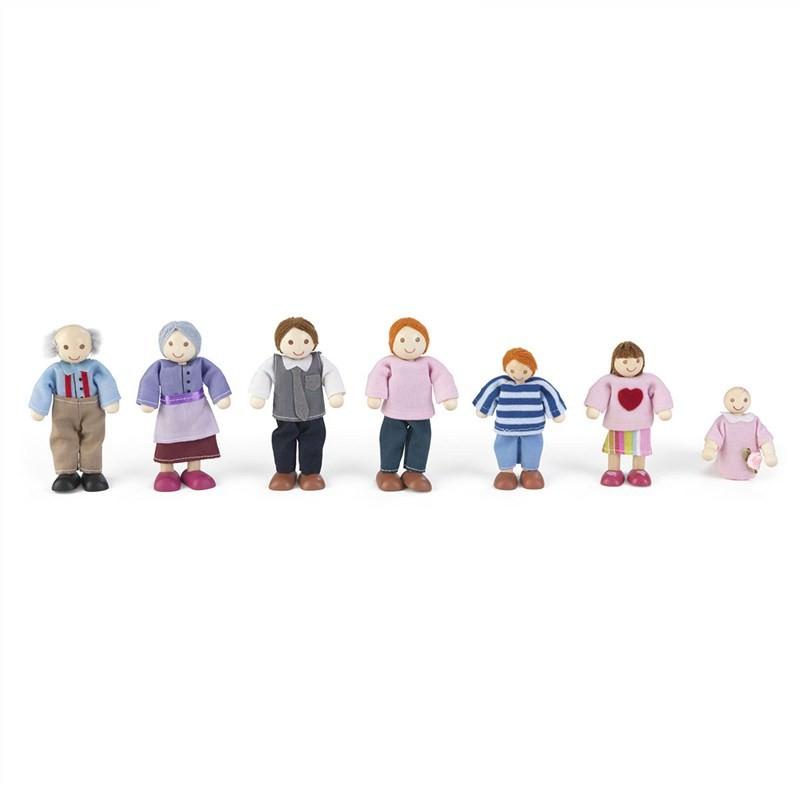 KidKraft Set of 7 Caucasian Doll Family