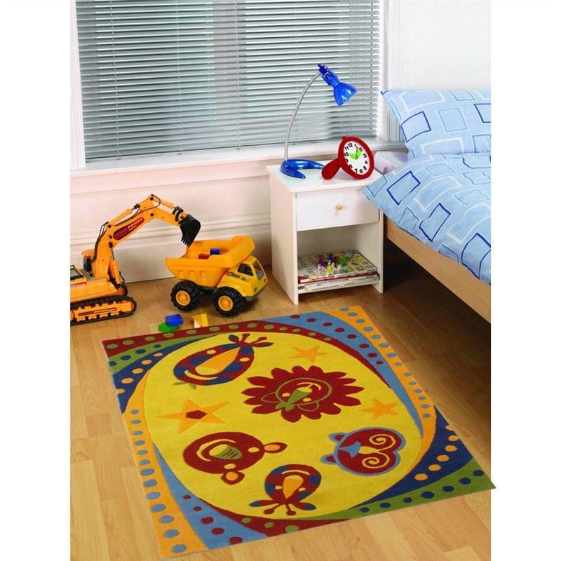 Designer Kids Wool Rug - K130 - Gold - 110x160